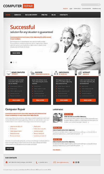 Free Computer Repair Website Template Beautiful Templatemonster Giveaway Over 1800 Wordpress themes Available