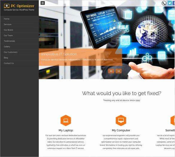Free Computer Repair Website Template Best Of Free Wordpress Website Templates Popteenus