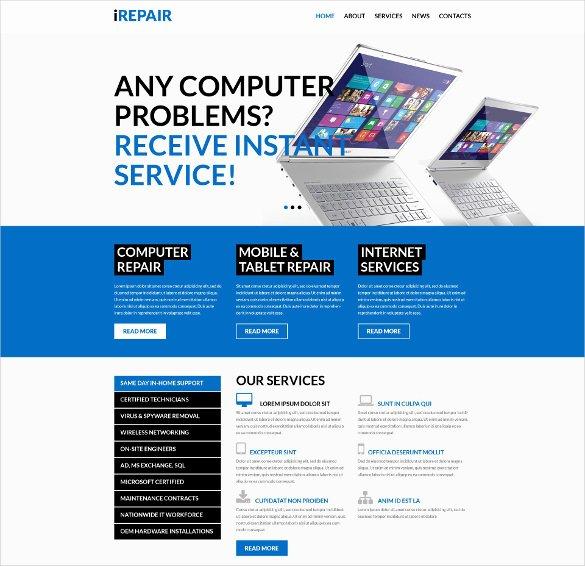 Free Computer Repair Website Template Elegant 28 Puter Repair Website themes & Templates