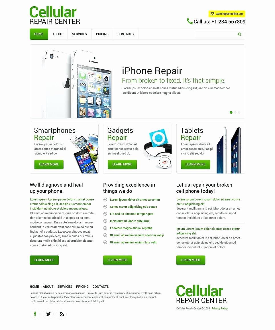 Free Computer Repair Website Template Elegant Puter Repair Website Template Templates Problems Help