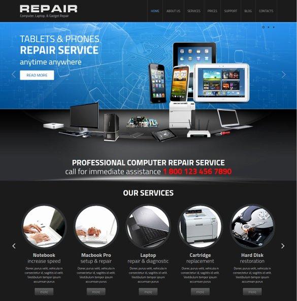 Free Computer Repair Website Template Inspirational 25 Puter Repair Website themes & Templates