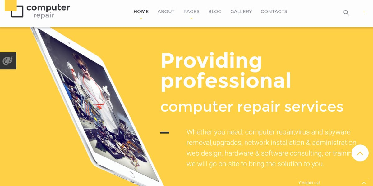 Free Computer Repair Website Template Lovely 10 Puter Repair Website Templates & themes