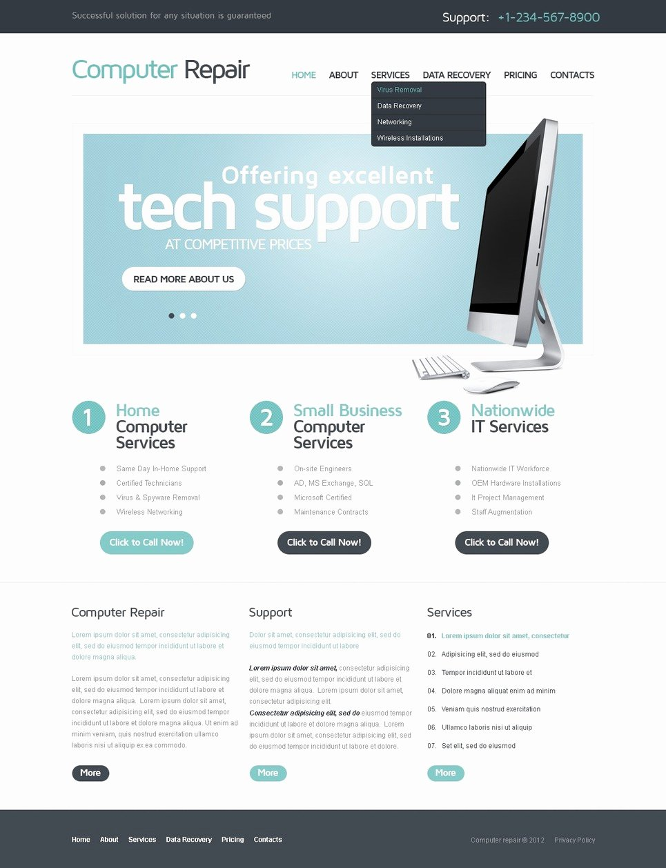 Free Computer Repair Website Template Lovely Puter Repair Website Template