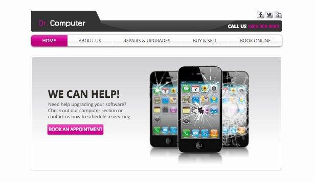 Free Computer Repair Website Template Luxury Puter Repair Wix Template