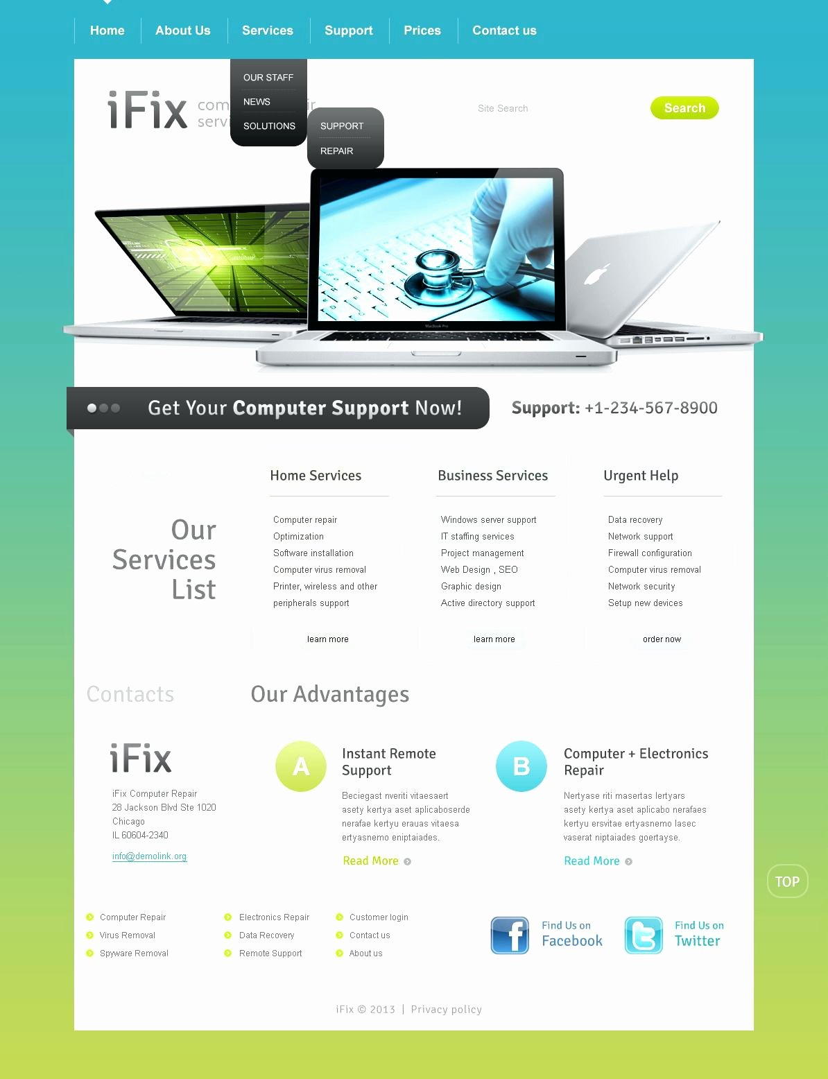 Free Computer Repair Website Template New Free Puter Repair Website Templates Giveaway 3 Stunning