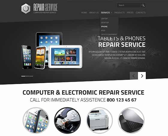 Free Computer Repair Website Template Unique Puter Repair Website Templates Pc Repair themes