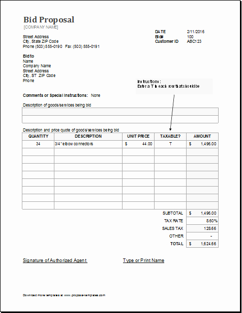 Free Construction Bid Template Awesome Contractor Proposal Template Free Henrycmartin