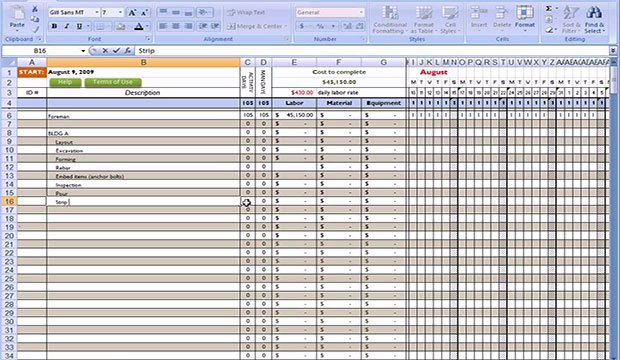 Free Construction Estimate Template Excel Inspirational Free Excel Construction Templates