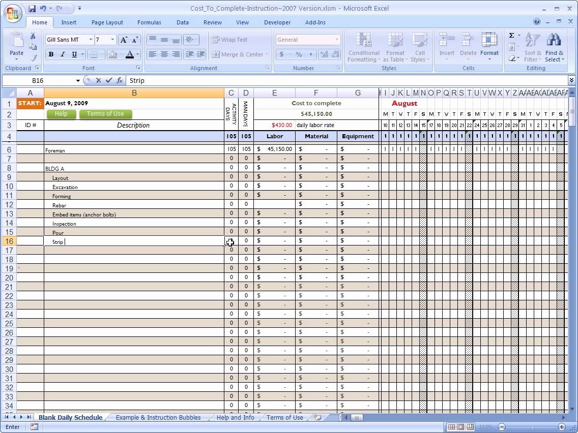 Free Construction Estimate Template Excel Unique Free Construction Estimating Excel Templates