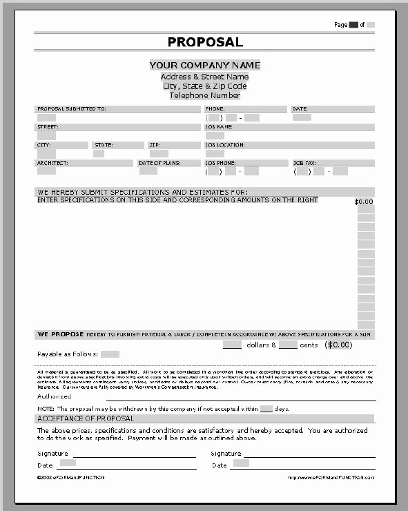 Free Construction Estimate Template Fresh Business Proposal Templates Examples