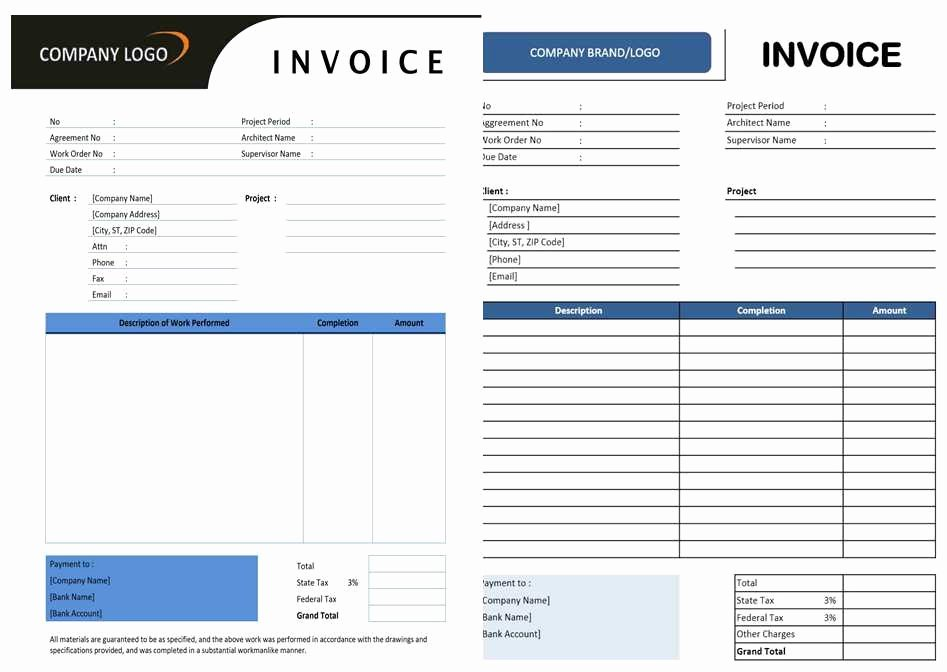 Free Construction Invoice Template Elegant Free Contractor Invoice Template