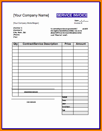 Free Construction Invoice Template Lovely Invoice Template Contractor