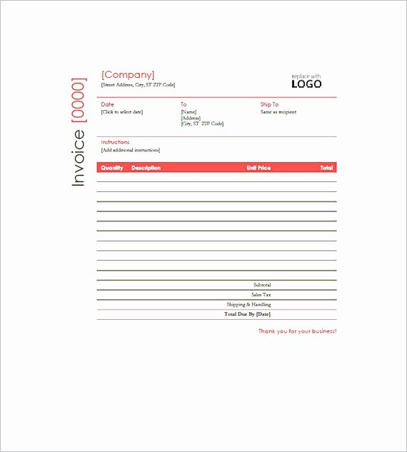 Free Construction Invoice Template Unique Construction Invoice Templates