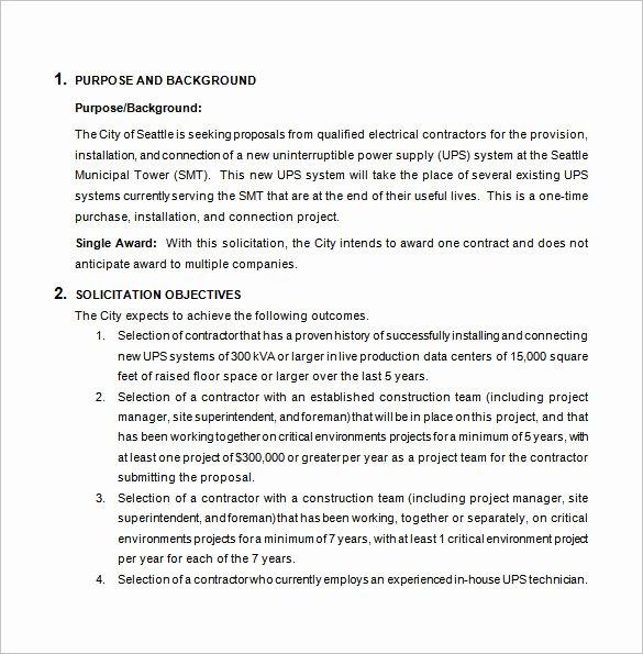 Free Construction Proposal Template Pdf Inspirational Bid Proposal Templates 19 Free Word Excel Pdf