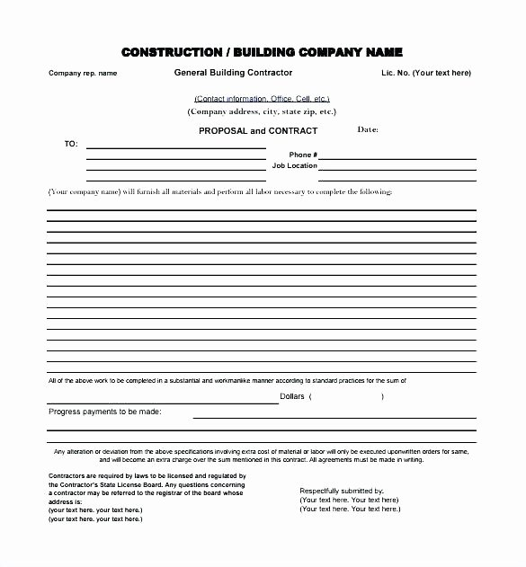 Free Construction Proposal Template Pdf New Bid Proposal Example How to Write A Bid Proposal Bid