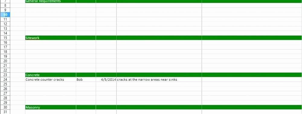 Free Construction Punch List Template Unique Construction Punch List Template Excel Construction