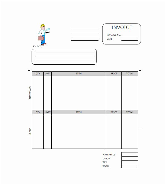 Free Contractor Invoice Template Inspirational Free Contractor Invoice Templates