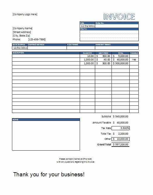 Free Contractor Invoice Template Lovely Construction Invoice Template Excel