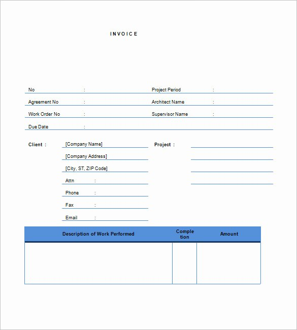 Free Contractor Invoice Template Luxury Free Contractor Invoice Templates