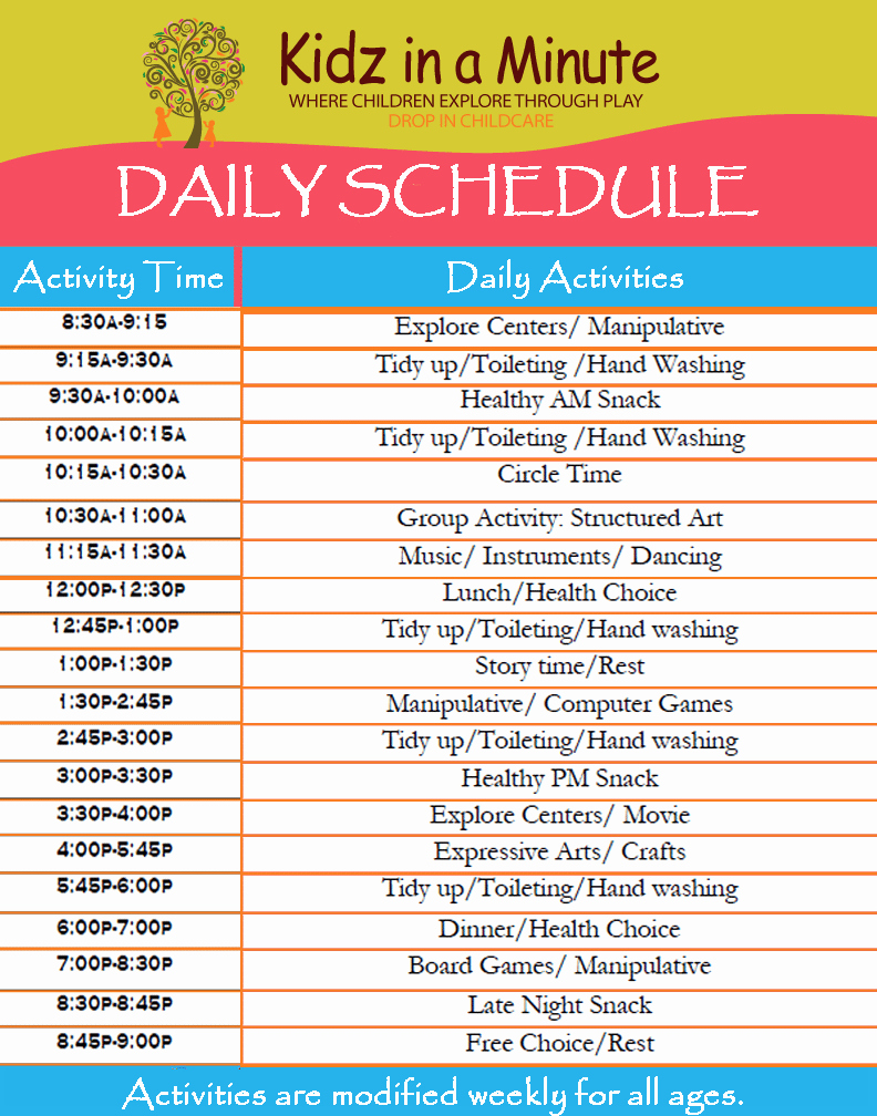 Free Daily Schedule Template Fresh 11 Daily Schedule Templates Word Excel Pdf formats