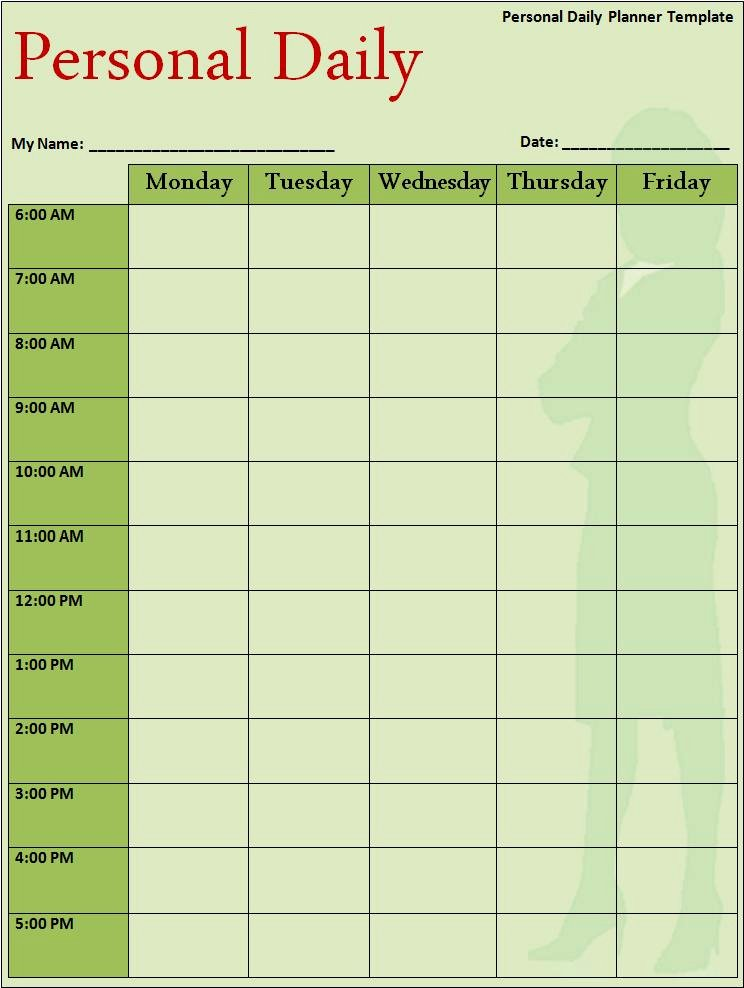 Free Daily Schedule Template Lovely Daily Planner Template