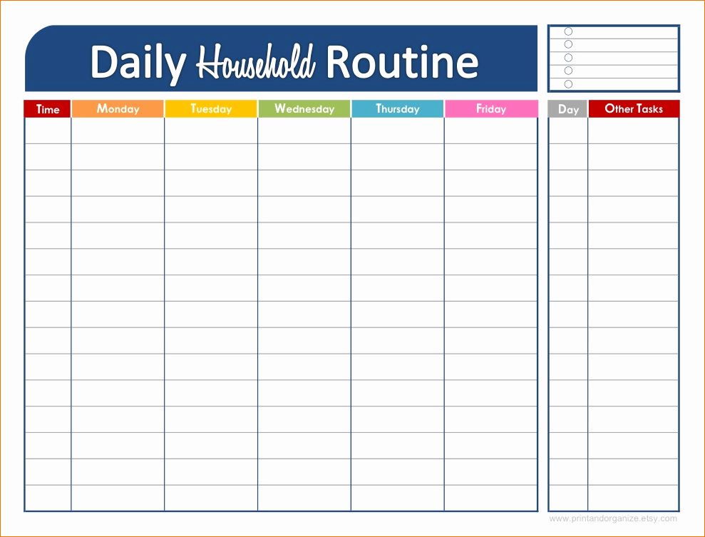 Free Daily Schedule Template Luxury 3 Daily Schedule Printable