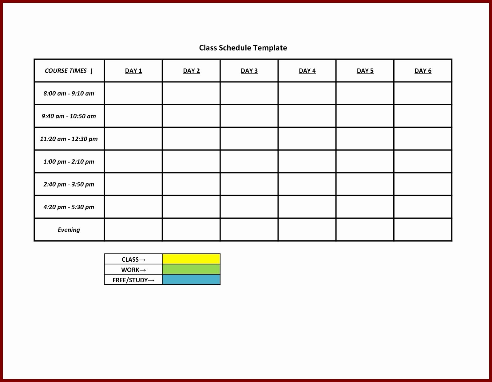 Free Daily Schedule Template New Free Printable Weekly Work Schedule Template Excel Template