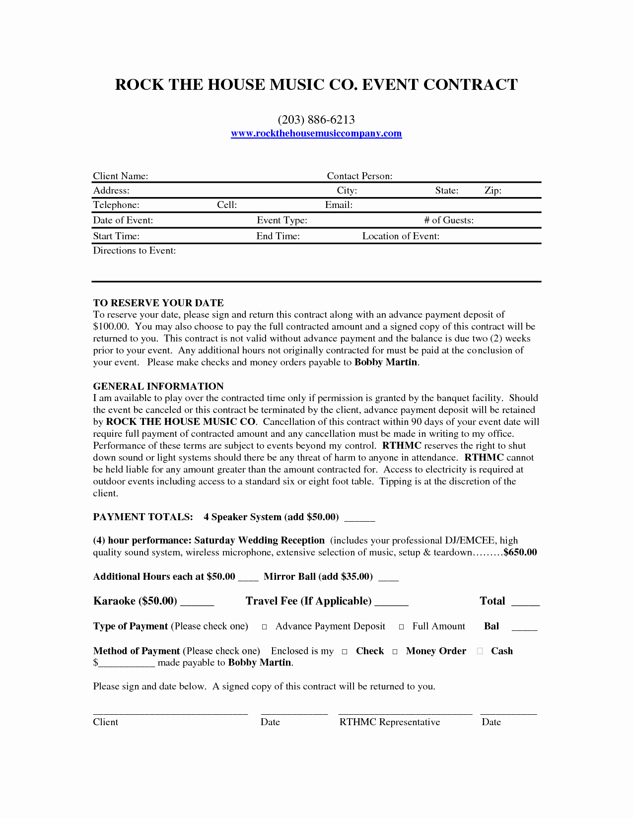 Free Dj Contract Template Inspirational Mobile Dj Contract Dj Contract