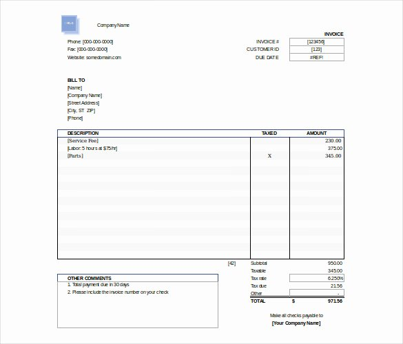 Free Downloadable Invoice Template Awesome Excel Invoice Template 31 Free Excel Documents Download