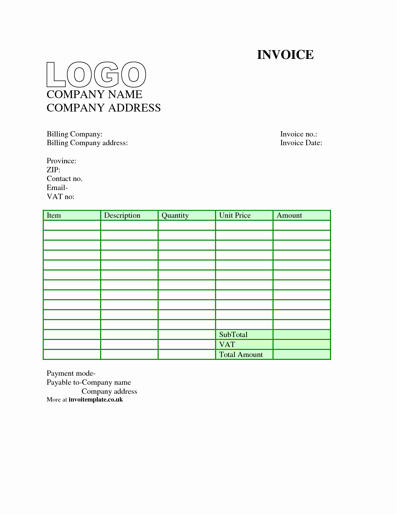 Free Downloadable Invoice Template Elegant Invoice Template Uk Word