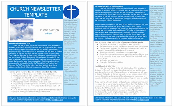 Free Downloadable Newsletter Template Awesome Best Church Newsletter Template 10 Free Sample Example