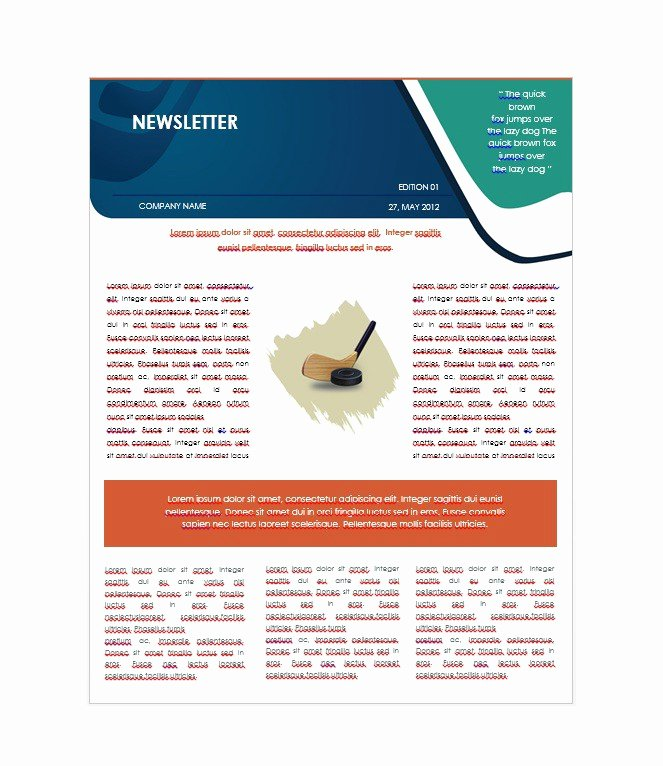 Free Downloadable Newsletter Template Beautiful 50 Free Newsletter Templates for Work School and Classroom
