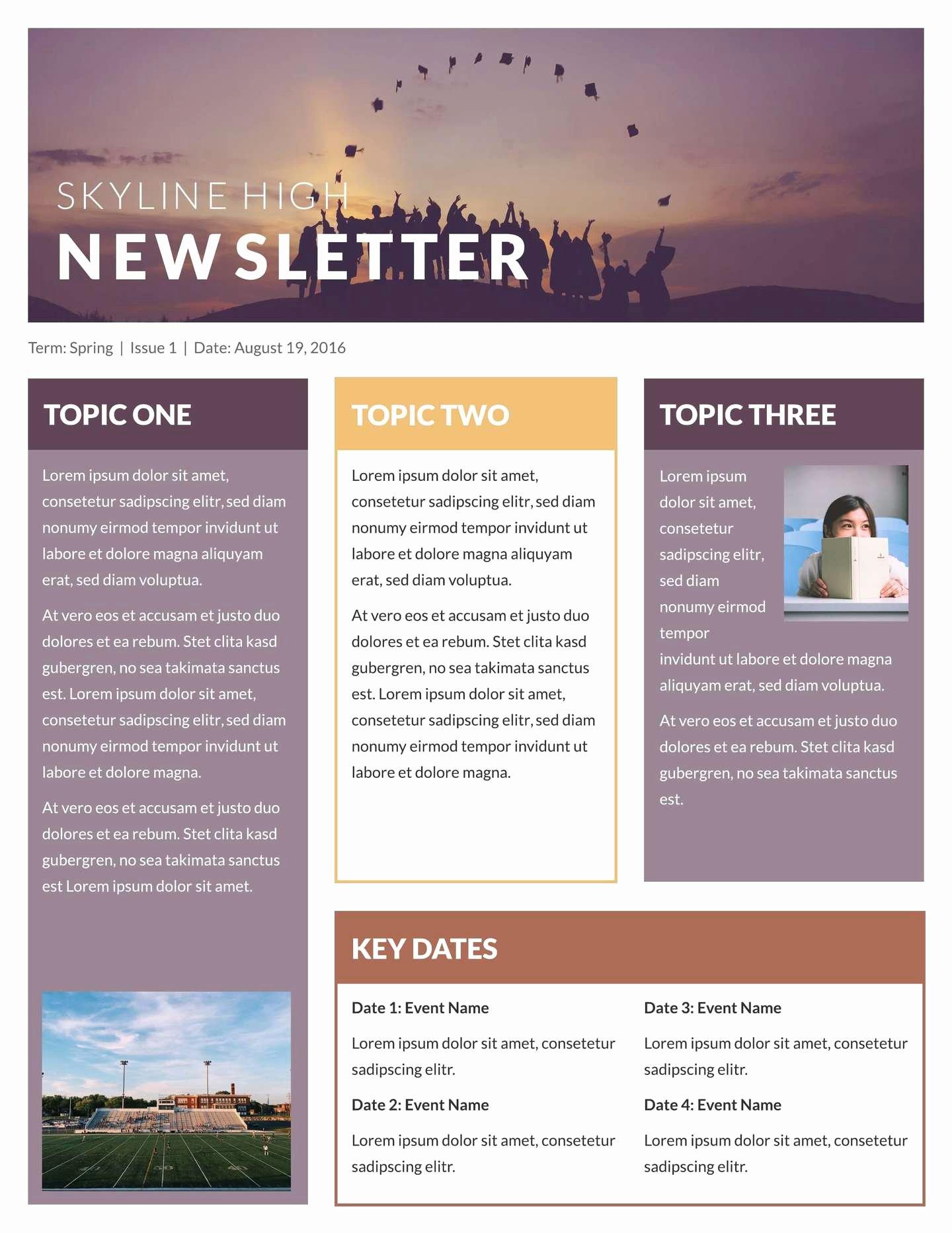 Free Downloadable Newsletter Template Elegant Free Printable Newsletter Templates & Email Newsletter