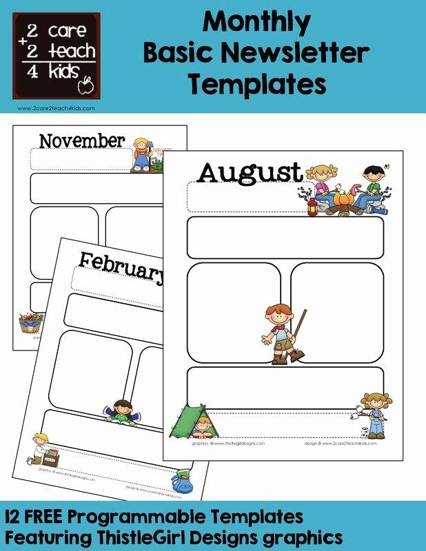 Free Downloadable Newsletter Template Elegant Monthly Templates Calendars Pinterest