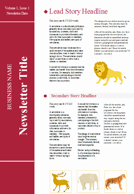 Free Downloadable Newsletter Template Fresh Customizable Newsletter Templates Free Download