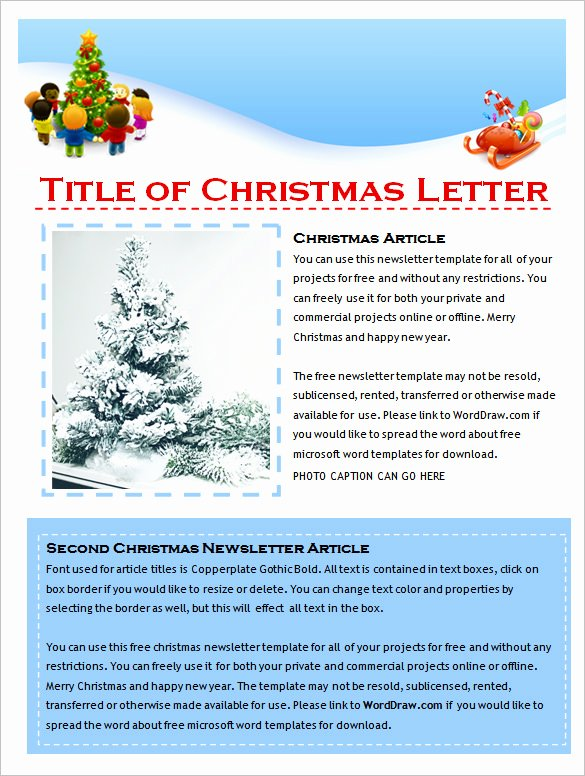 Free Downloadable Newsletter Template Inspirational 9 Holiday Newsletter Templates – Free Word Documents