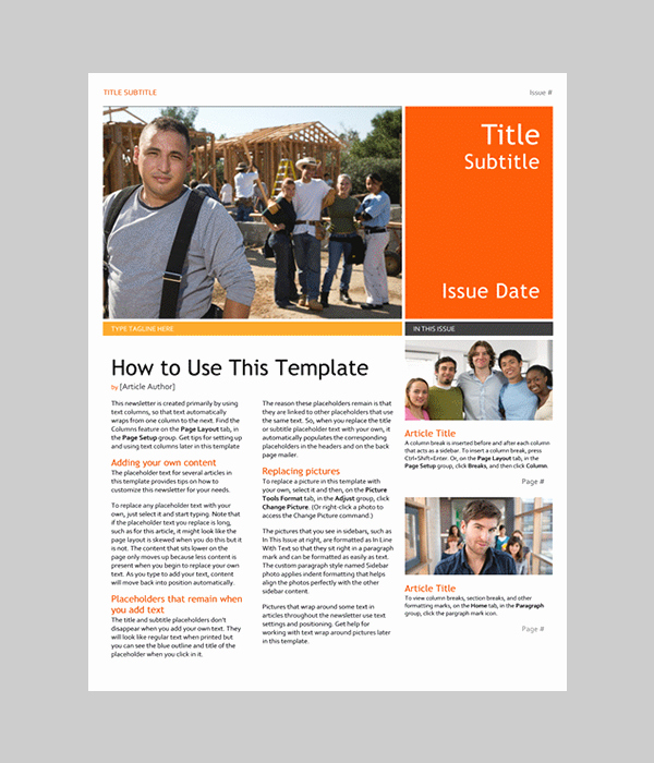Free Downloadable Newsletter Template Inspirational Word Newsletter Template – 31 Free Printable Microsoft