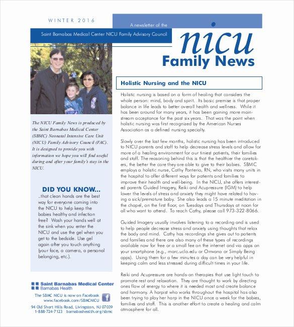 Free Downloadable Newsletter Template Lovely 10 Family Newsletter Templates