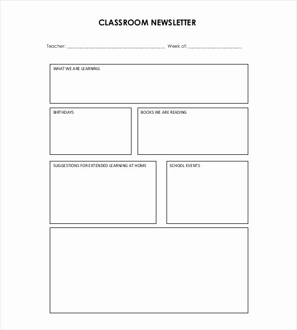 Free Downloadable Newsletter Template Lovely 9 Teacher Newsletter Templates – Free Sample Example