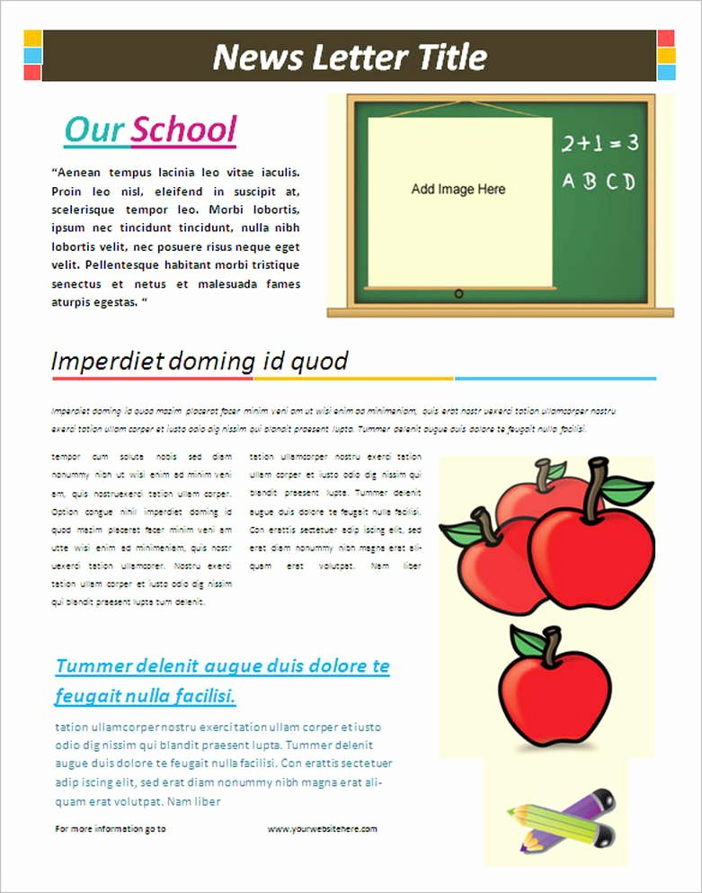 Free Downloadable Newsletter Template Luxury School Newsletter Templates