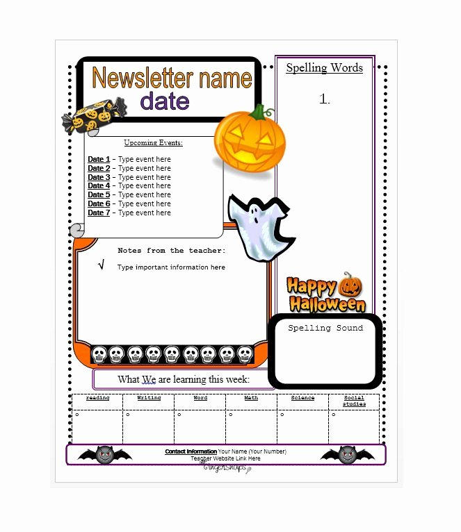Free Downloadable Newsletter Template New 50 Free Newsletter Templates for Work School and Classroom