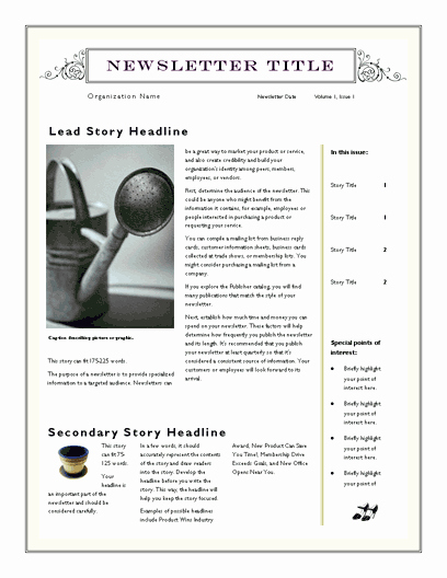 Free Downloadable Newsletter Template New Free Newsletter Template for Word 2007 and Later