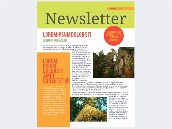 Free Downloadable Newsletter Template Unique 33 Free Newsletter Templates Free Psd Ai Vector Eps