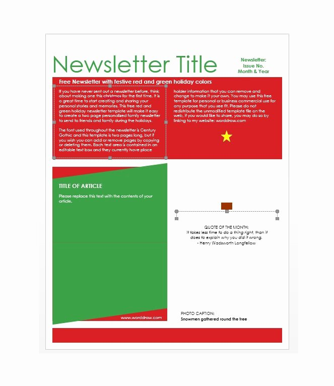 Free Downloadable Newsletter Template Unique 50 Free Newsletter Templates for Work School and Classroom
