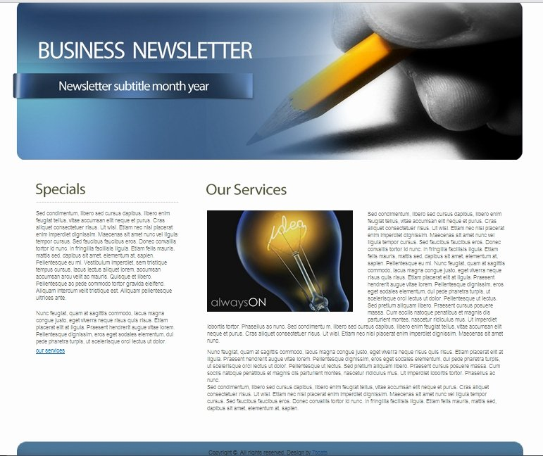 Free Downloadable Newsletter Template Unique Download Free HTML Business Newsletter Template • 7boats