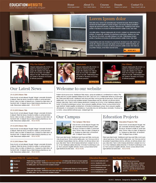 Free Education Website Template Awesome Free Education Website Template