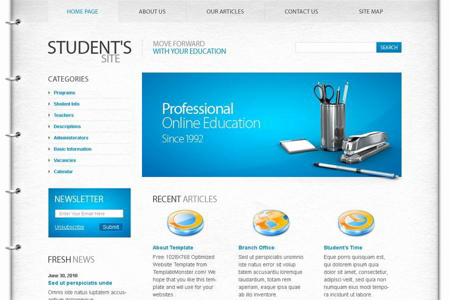 Free Education Website Template Awesome Free Education Website Template – the Best Choice for