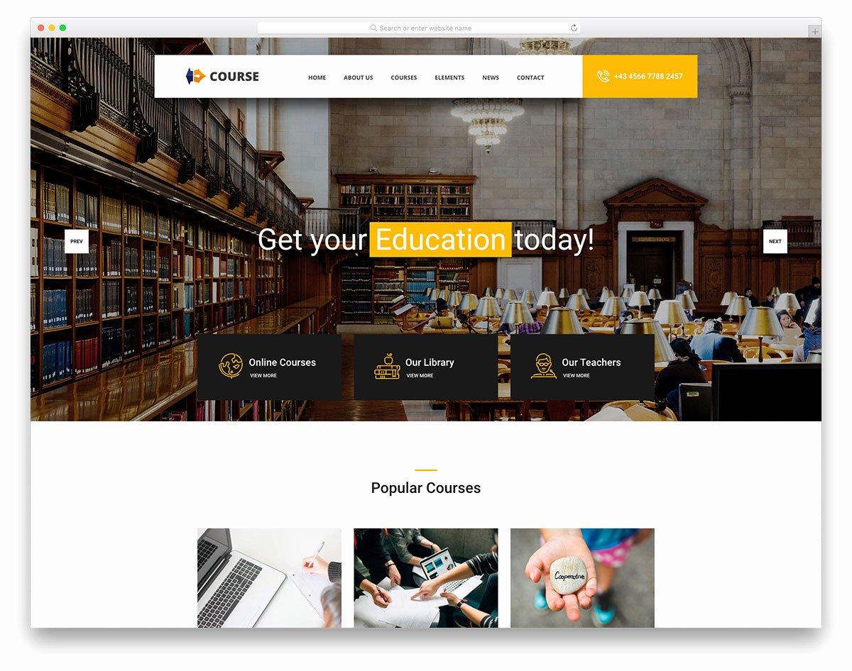 Free Education Website Template Beautiful 21 Best Free Education Website Templates with Premium