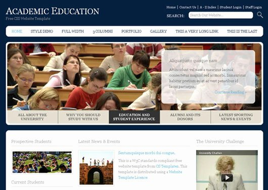 Free Education Website Template Beautiful 22 High Quality Free Website Templates
