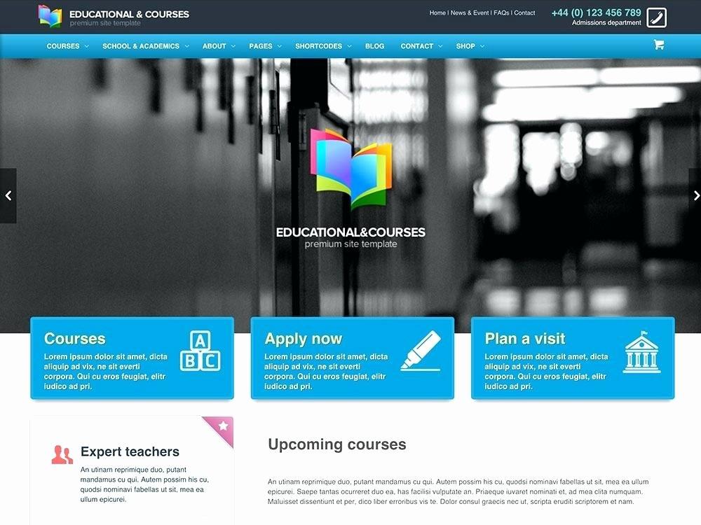 Free Education Website Template Beautiful HTML5 Educational Website Templates Free Download
